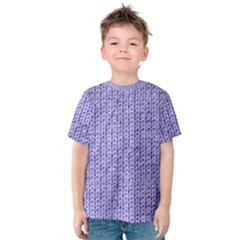 Knitted Wool Lilac Kids  Cotton Tee