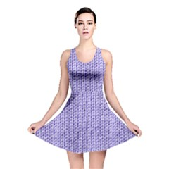 Knitted Wool Lilac Reversible Skater Dress
