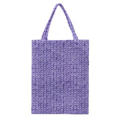 Knitted Wool Lilac Classic Tote Bag