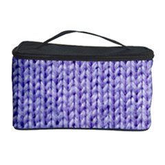 Knitted Wool Lilac Cosmetic Storage Case