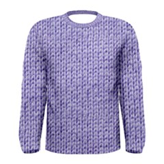 Knitted Wool Lilac Men s Long Sleeve Tee