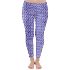 Knitted Wool Lilac Classic Winter Leggings