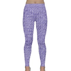 Knitted Wool Lilac Classic Yoga Leggings