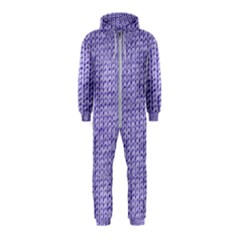 Knitted Wool Lilac Hooded Jumpsuit (kids)