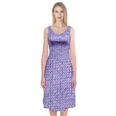 Knitted Wool Lilac Midi Sleeveless Dress