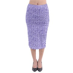 Knitted Wool Lilac Midi Pencil Skirt