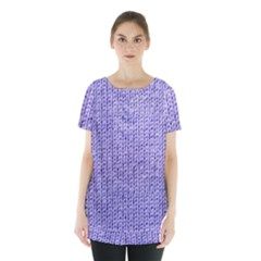 Knitted Wool Lilac Skirt Hem Sports Top