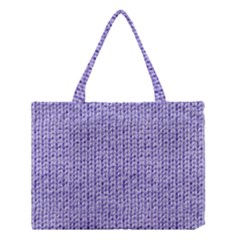 Knitted Wool Lilac Medium Tote Bag