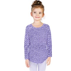 Knitted Wool Lilac Kids  Long Sleeve Tee