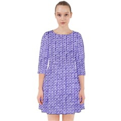 Knitted Wool Lilac Smock Dress
