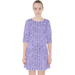 Knitted Wool Lilac Pocket Dress