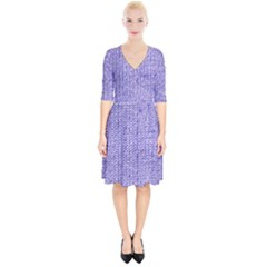 Knitted Wool Lilac Wrap Up Cocktail Dress