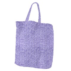 Knitted Wool Lilac Giant Grocery Zipper Tote