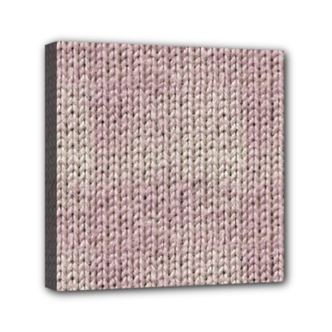 Knitted Wool Pink Light Canvas Travel Bag