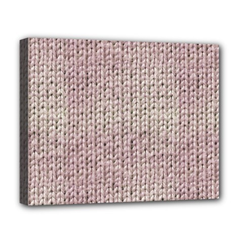 Knitted Wool Pink Light Deluxe Canvas 20  X 16