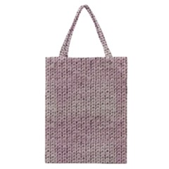 Knitted Wool Pink Light Classic Tote Bag