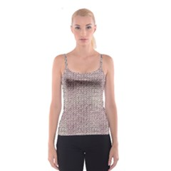 Knitted Wool Pink Light Spaghetti Strap Top