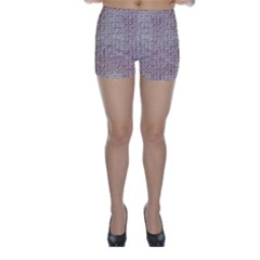 Knitted Wool Pink Light Skinny Shorts