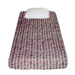 Knitted Wool Pink Light Fitted Sheet (single Size)