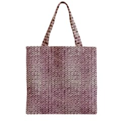 Knitted Wool Pink Light Zipper Grocery Tote Bag