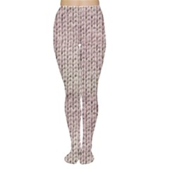 Knitted Wool Pink Light Women s Tights