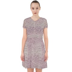 Knitted Wool Pink Light Adorable In Chiffon Dress