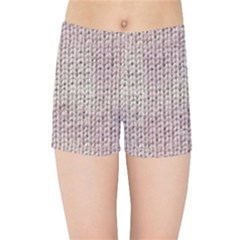 Knitted Wool Pink Light Kids Sports Shorts