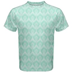 Damask Aqua Green Men s Cotton Tee