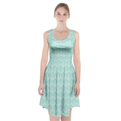 Damask Aqua Green Racerback Midi Dress