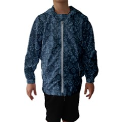 Damask Blue Hooded Wind Breaker (kids)
