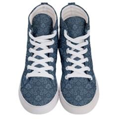 Damask Blue Women s Hi Top Skate Sneakers