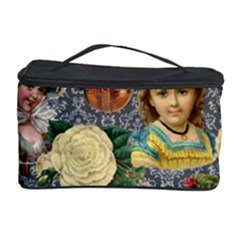 Damask Religious Victorian Grey Cosmetic Storage Case