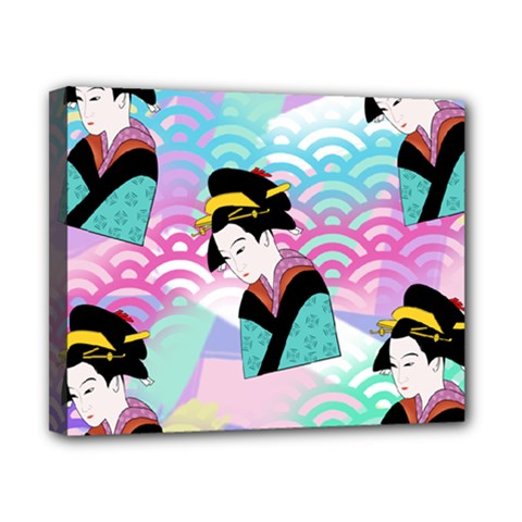Japanese Abstract Canvas 10  X 8