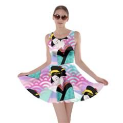 Japanese Abstract Skater Dress
