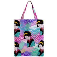 Japanese Abstract Zipper Classic Tote Bag