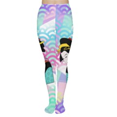 Japanese Abstract Women s Tights