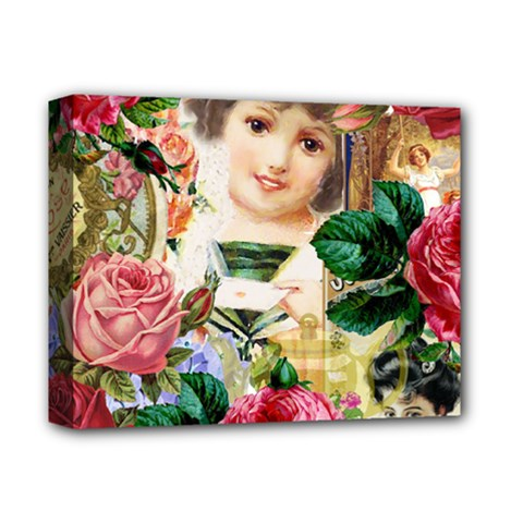 Little Girl Victorian Collage Deluxe Canvas 14  X 11