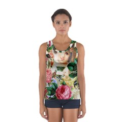 Little Girl Victorian Collage Sport Tank Top
