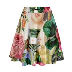 Little Girl Victorian Collage High Waist Skirt