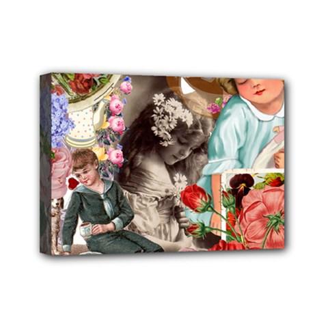Victorian Collage Mini Canvas 7  X 5