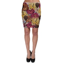 Octopus Floral Bodycon Skirt