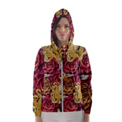 Octopus Floral Hooded Wind Breaker (women)