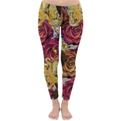 Octopus Floral Classic Winter Leggings