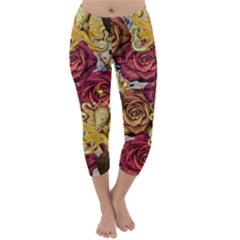 Octopus Floral Capri Winter Leggings