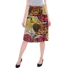 Octopus Floral Midi Beach Skirt