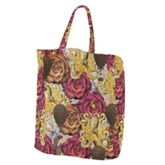 Octopus Floral Giant Grocery Zipper Tote