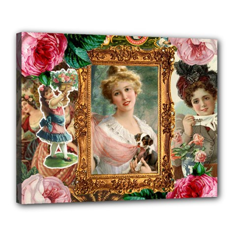 Victorian Collage Of Woman Canvas 20  X 16