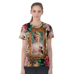Victorian Collage Of Woman Women s Cotton Tee