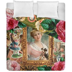 Victorian Collage Of Woman Duvet Cover Double Side (california King Size)