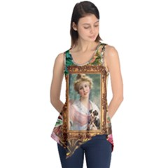Victorian Collage Of Woman Sleeveless Tunic